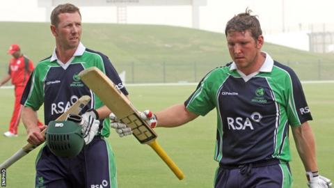 Andrew White and Gary Wilson at the World T20 qualifiers