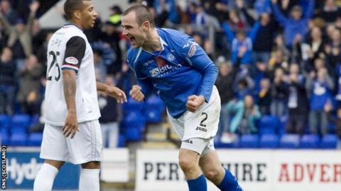 St Johnstone defender Dave MacKay