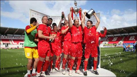 Llanelli win the 2011 Welsh Cup