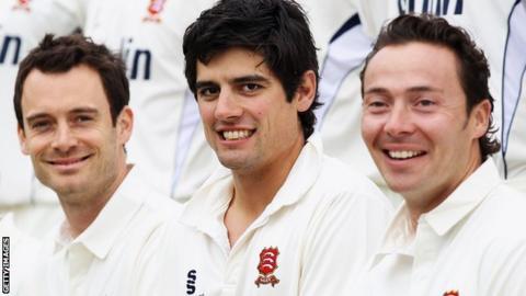 James Foster, Alastair Cook and Graham Napier
