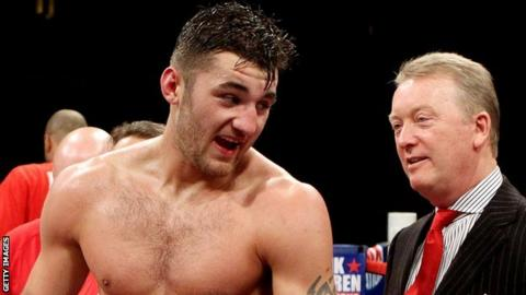 Nathan Cleverly and Frank Warren