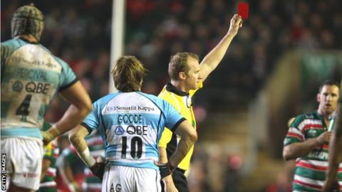 Andy Goode is sent off