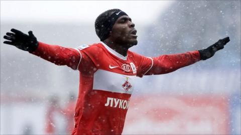Spartak Moscow's Nigerian striker Emmanuel Emenike