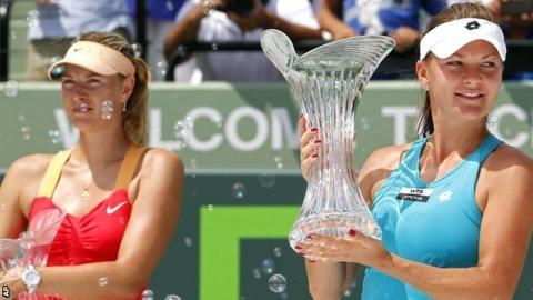 Maria Sharapova and Agnieszka Radwanska
