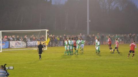 Guildford City free kick