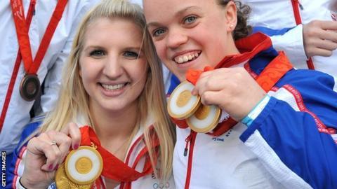 Rebecca Adlington and Eleanor Simmonds