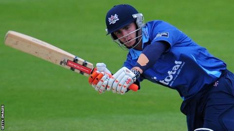Kane Williamson during his previous spell with Gloucestershire