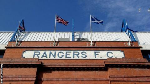 The front of Rangers' Ibrox Stadium