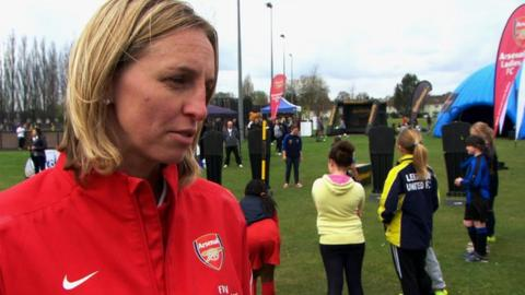 Arsenal skipper Faye White