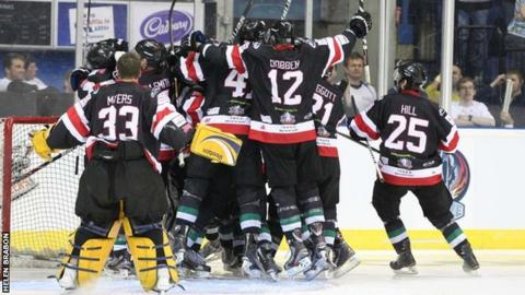 Cardiff Devils celebrate