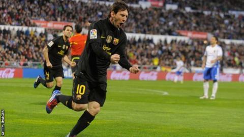Barcelona playmaker Lionel Messi