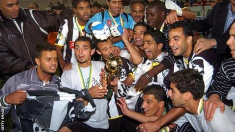 Tunisian side CS Sfaxien winning the Confederation Cup in 2008