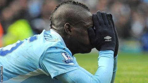 Mario Balotelli has been sent off twice this season