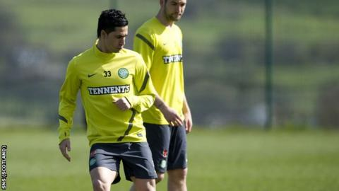 Kayal in training with Celtic on Friday
