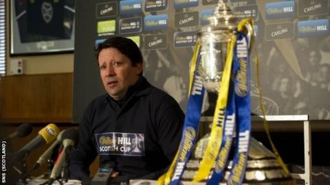 Sergio has his eye on the Scottish Cup as he addresses the media