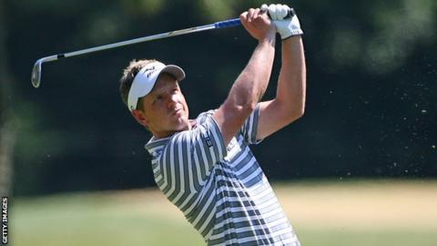 Golfer Luke Donald