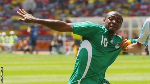 Nigerian striker Isaac Promise