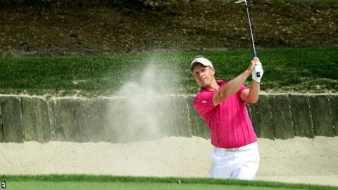 Luke Donald in third-round action at Hilton Head