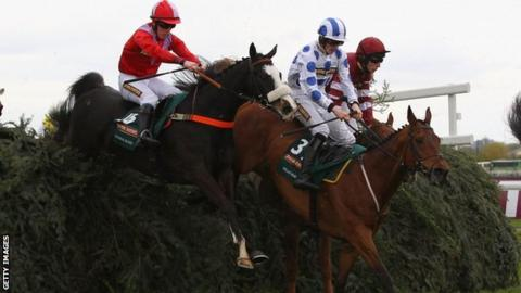 According to Pete jumps one of the Aintree fences