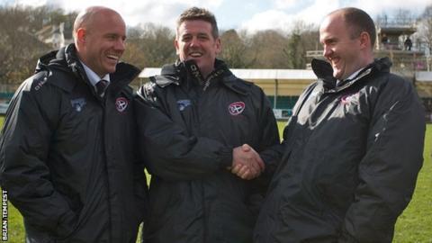 Harvey Biljon (left), Chris Stirling and Ian Davies (right)