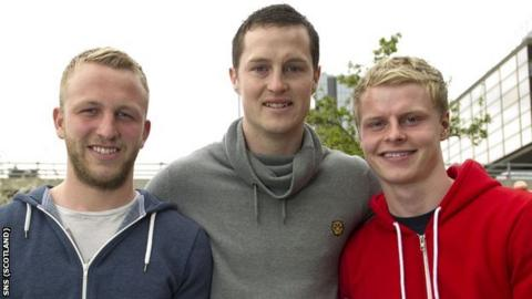 Johnny Russell, Jon Daly and Gary Mackay-Steven