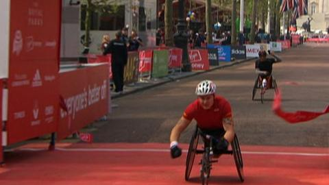 Britain's top wheelchair racer David Weir