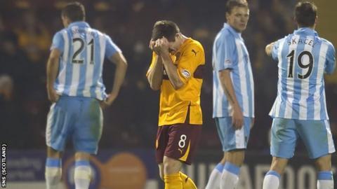 Steve Jennings was dismissed against Hearts at Fir Park