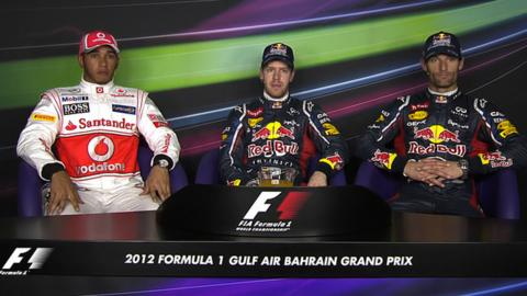 Bahrain Grand Prix qualifying - top three drivers