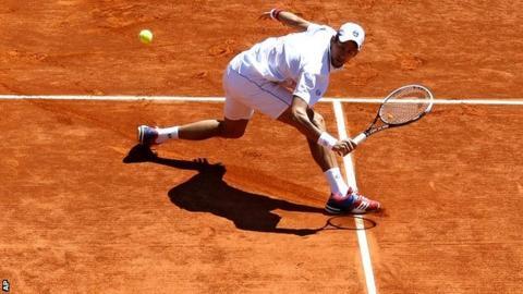 Novak Djokovic at the Monte Carlo Masters