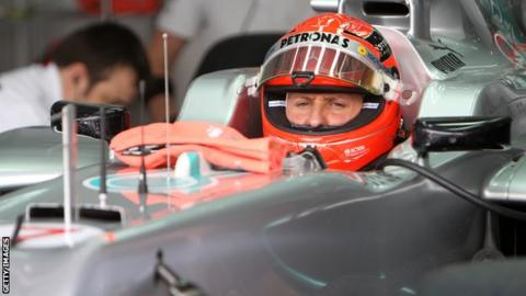 Mercedes's Michael Schumacher