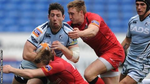 Alex Cuthbert goes over