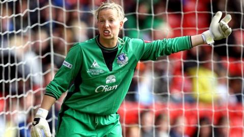 Everton keeper Rachel Brown