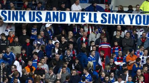 Rangers fans are upset with the penalties imposed on the club by the Scottish FA