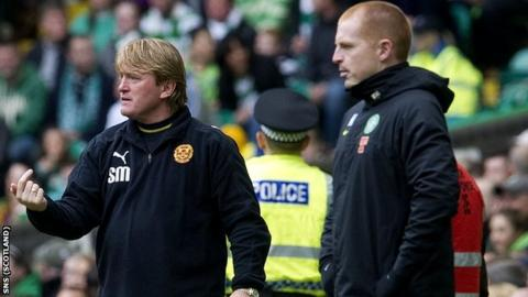 Motherwell manager Stuart McCall (left) and Celtic boss Neil Lennon