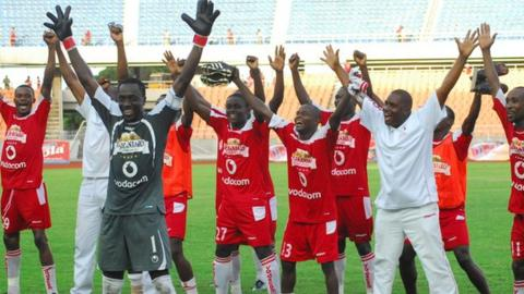 Simba players celebrated prematurely