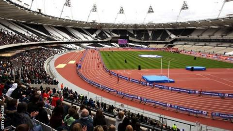 Inside the Olympic Stadium, London