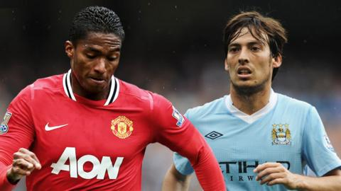 Antonio Valencia and David Silva