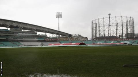 Covers in place at The Oval