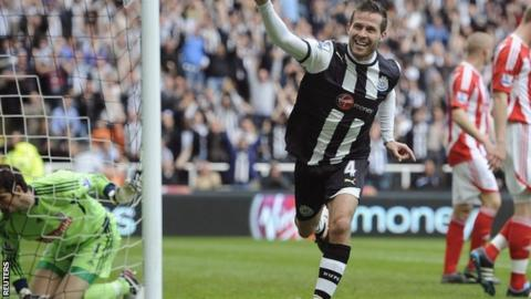 Newcastle midfielder Yohan Cabaye