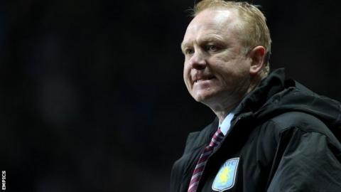 Aston Villa manager Alex McLeish