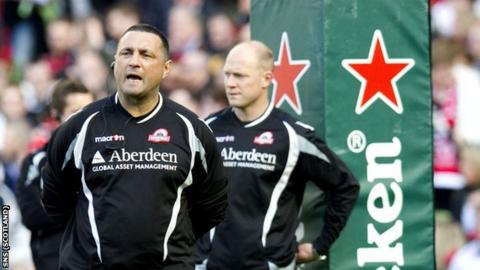 Edinburgh head coach Michael Bradley