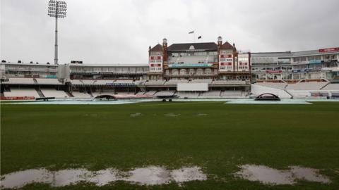 Rain at The Oval