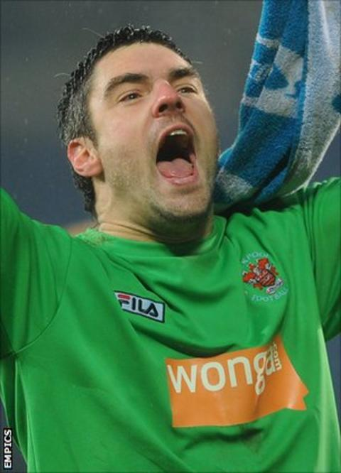Blackpool goalkeeper Matt Gilks