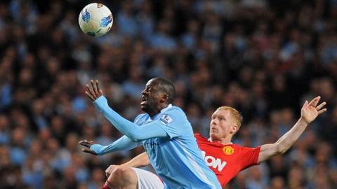 Yaya Toure against Manchester United