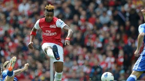 Cameroon's Alex Song in action for his English club Arsenal