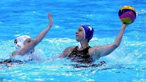 Great Britain's Chloe Wilcox (left) challenges Hungary's Hann Anna Kisteleki