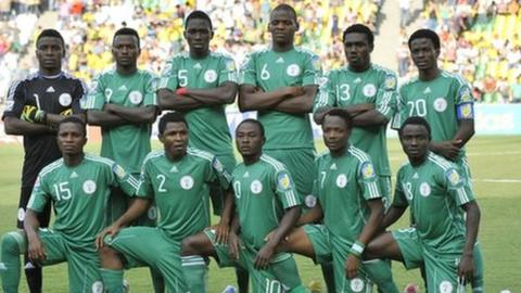 Nigeria under-20 team at the 2011 World Cup in Colombia