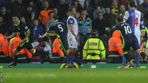 Antolin Alcaraz celebrates