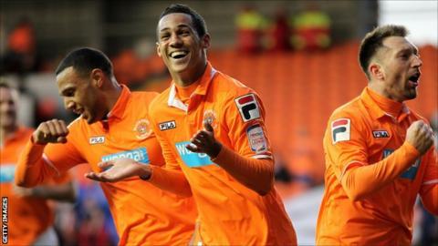 Blackpool midfielder Tom Ince