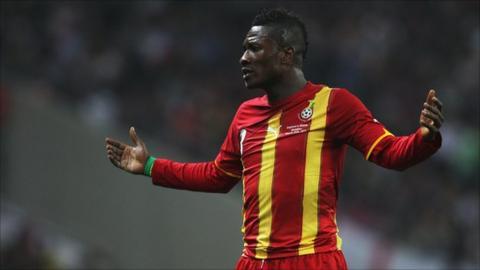 Ghanaian striker Asamoah Gyan